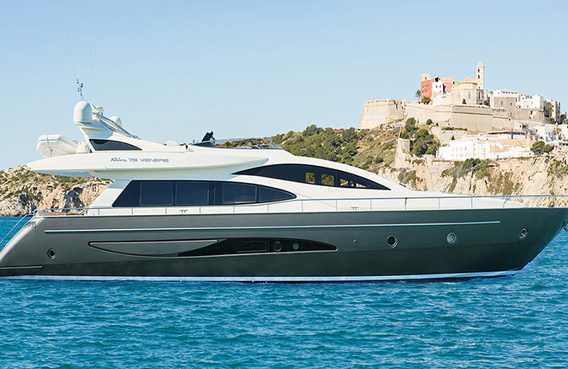 rent yacht ibiza riva venere 75