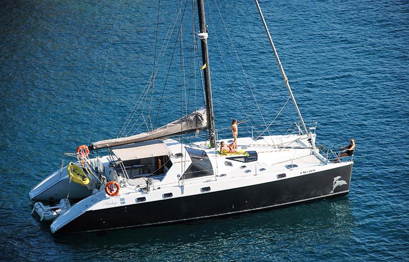 rent catamaran ibiza privilege 51