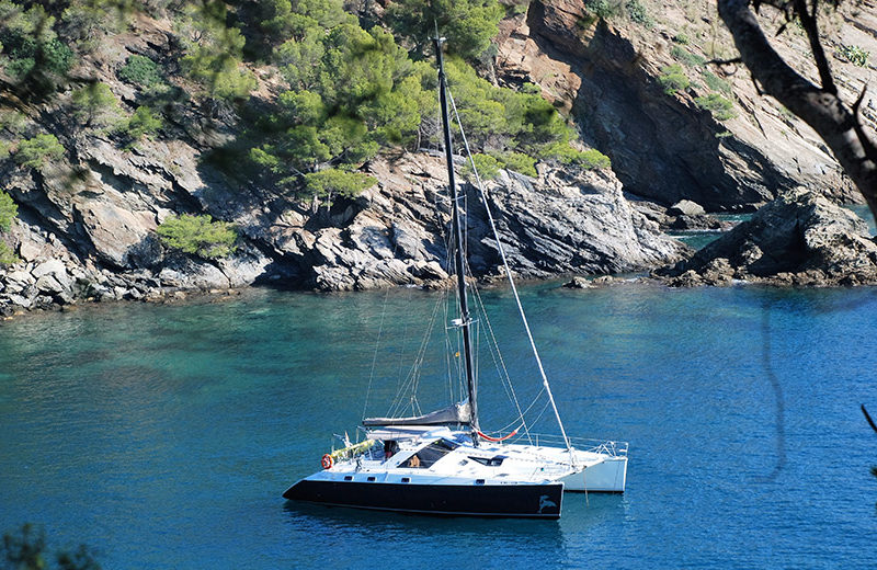 rent catamaran ibiza privilege 51