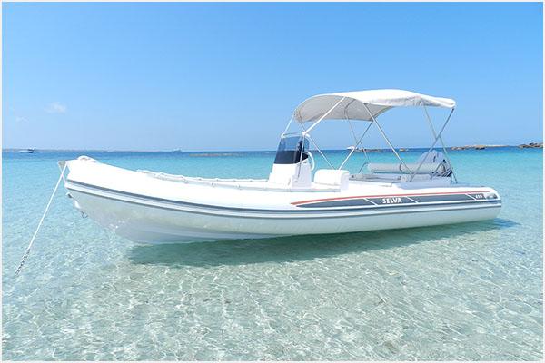 alquiler de barcos en Ibiza semirrígidas