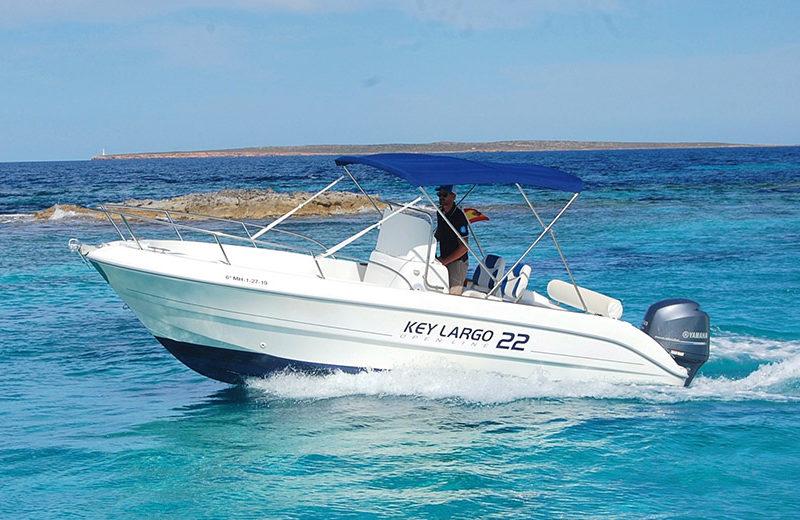 rent boat key largo 22