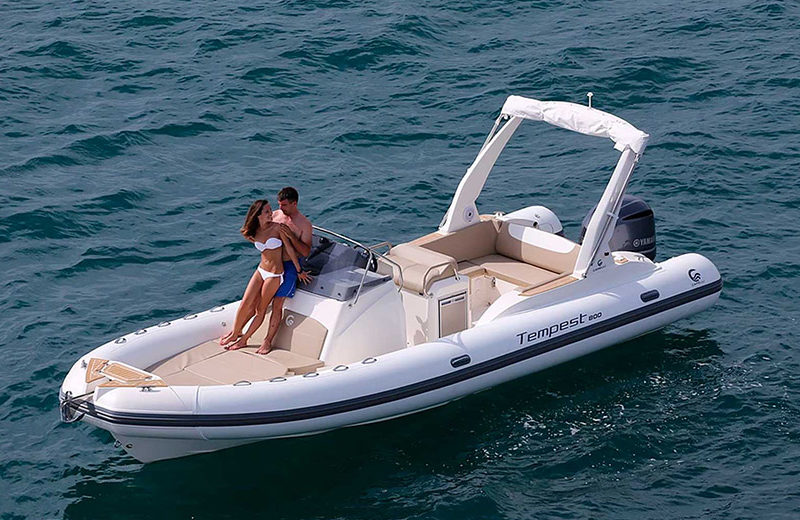 rent semi-rigid ibiza capelli tempest