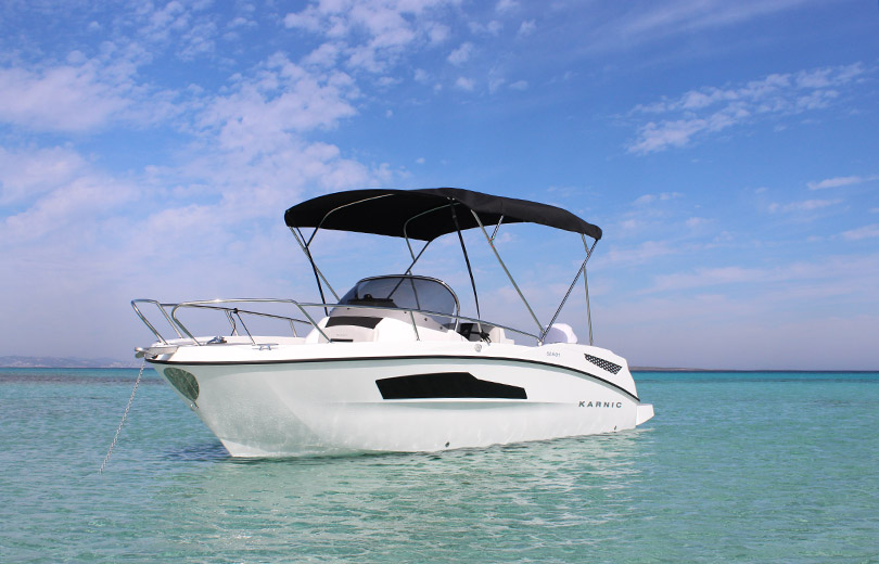 rent boat ibiza karnic 607